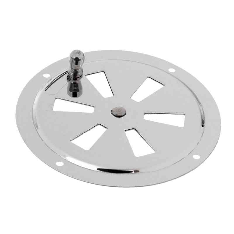 4 /5 Inch Stainless Steel Round Air Louver Vent & Side Knob Opening Grille Cover