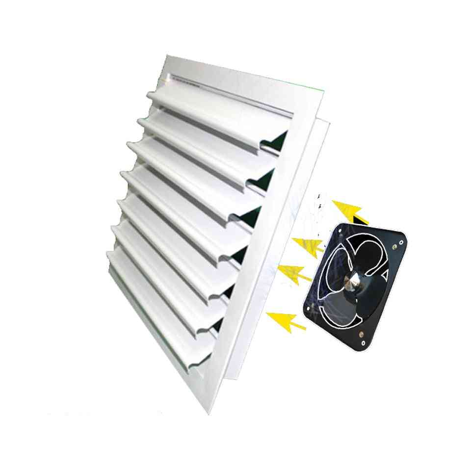 Central Air Conditioning Outlet Aluminum Alloy Louver Self-adjustable Ventilation Grille Duct