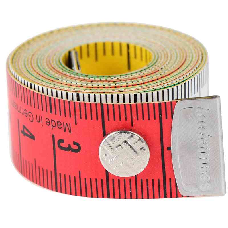 1.5m Body Measuring Ruler Sewing Tailor Mini Soft Flat Ruler Centimeter Tape