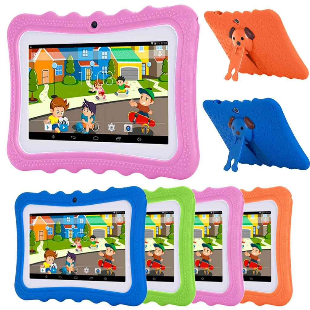 Kids 7 Inch Tablet Pc 8.0 Quad Core 4gb Rom 1gb Ram Dual Camera Multifunctional Puzzle Entertainment