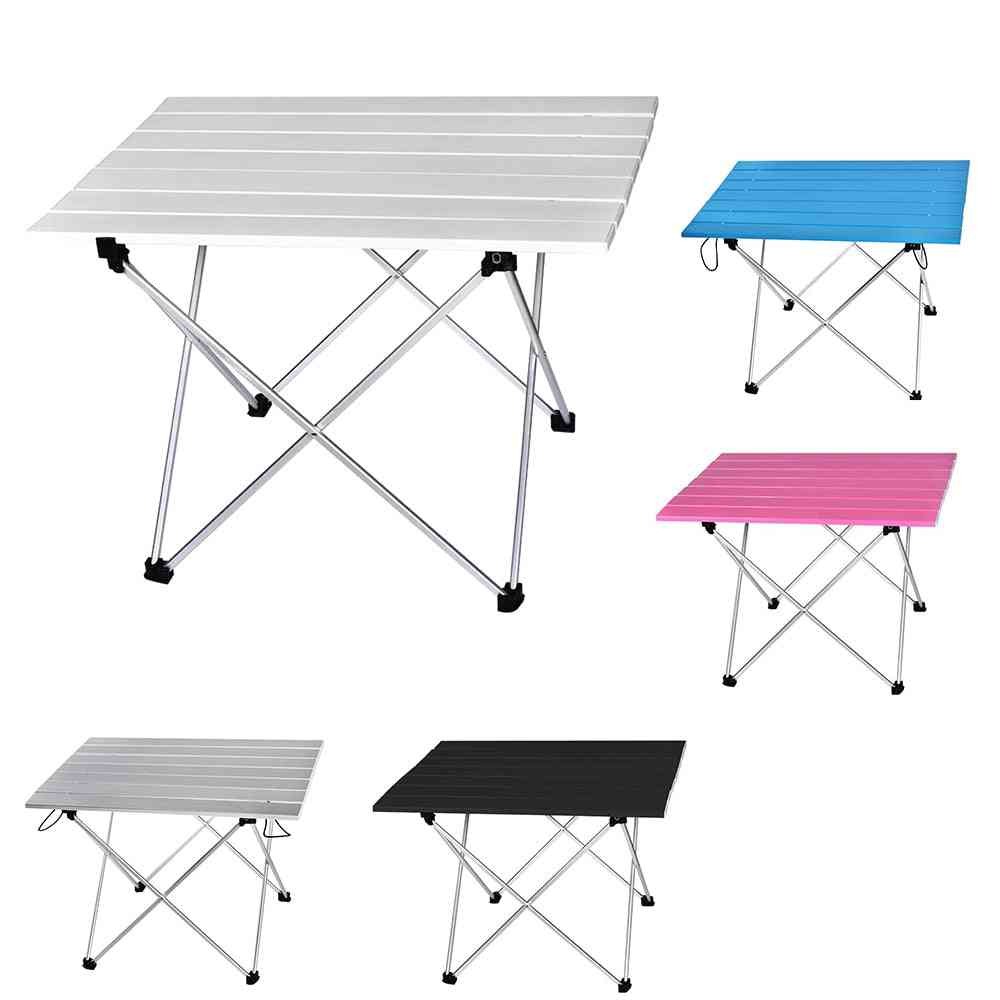 Portable Table Foldable Folding Camping Hiking Desk Computer Bed Traveling Outdoor Picnic New