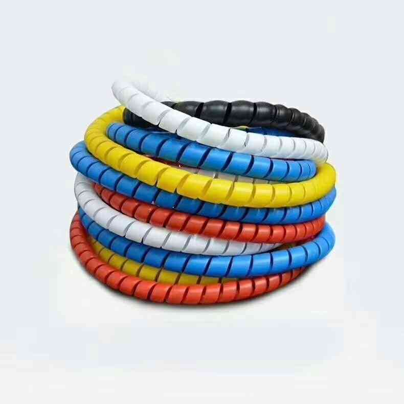 2meters 8mm Line Organizer Pipe Protection Spiral Wrap Winding Cable Wire Protector Sleeve Cover