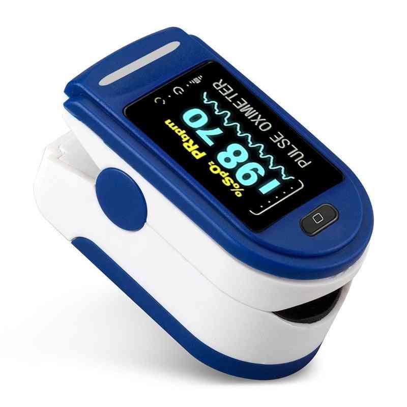 Finger Monitor Health Care, Medical Household Digital Fingertip Pulse Oximeter, Blood, Oxygen, Saturation Meter