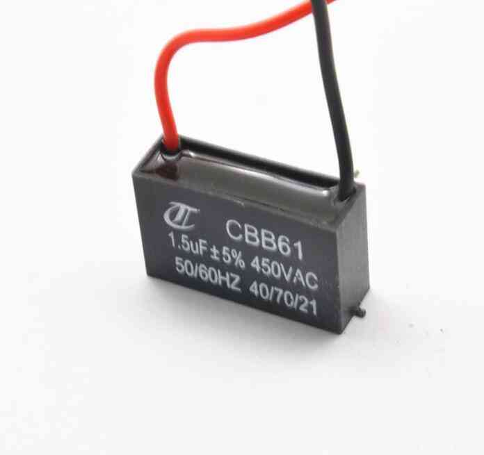 1pcs Fan Capacitor Cbb61 1.5uf Starting Capacitor Electric Fan Capacitor