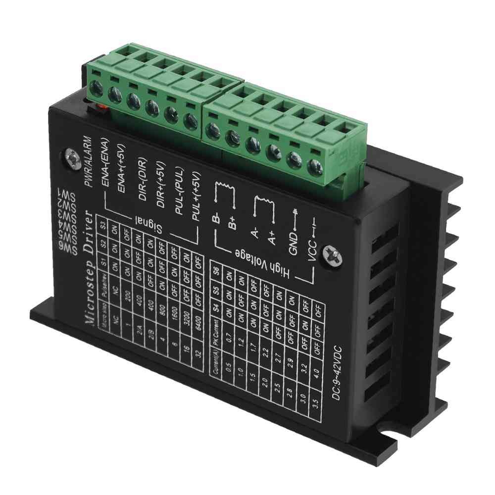 Stepper Motor Driver Tb6600 Upgrade Nema 23 Nema17 4a Dc9-42v For Motor Cnc Router Controller