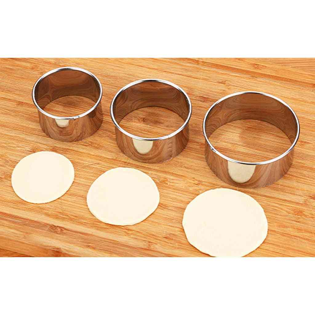 3 Size Stainless Steel Round Dumplings Wrappers Mold Set