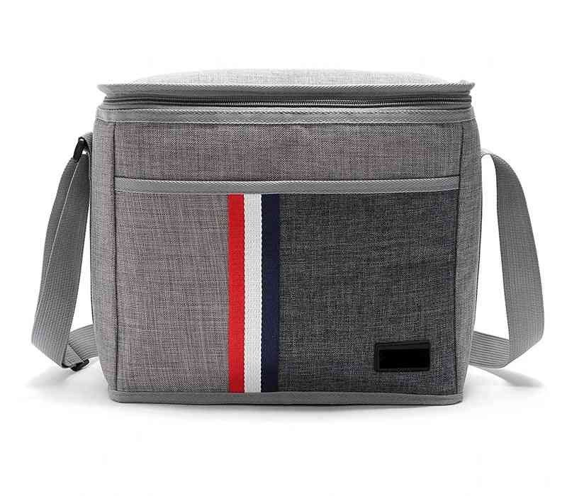 New Fashion 9l Waterproof Denim Retro Classic Cooler Bag Thermal Aluminum Film Insulated