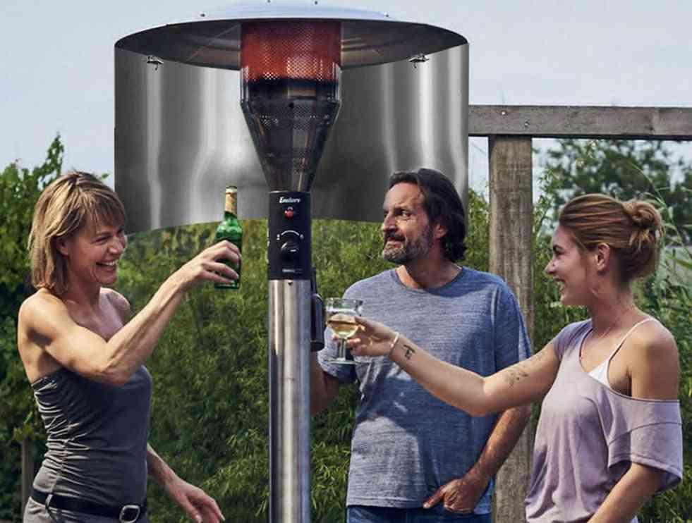 Outdoor Patio Heat Focus Reflector Of Propane Terrace Heater
