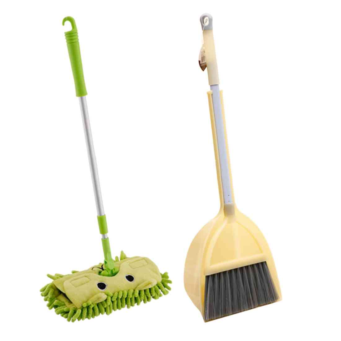 Pretend Play Housekeeping Cleaning Tools Kit With Mop