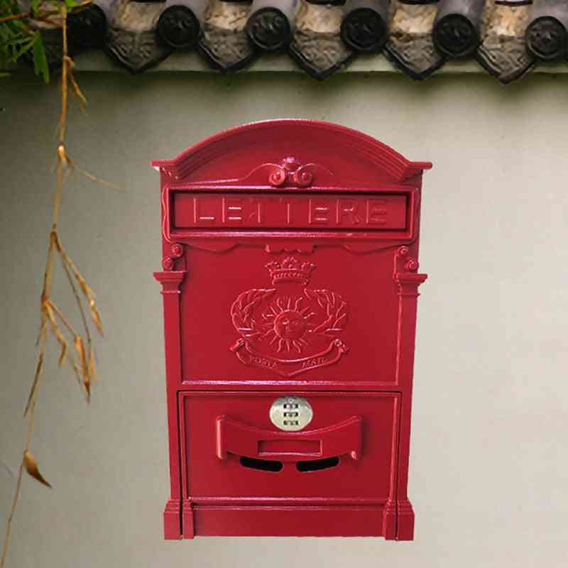 Vintage Metal Mailbox With Combination Lock