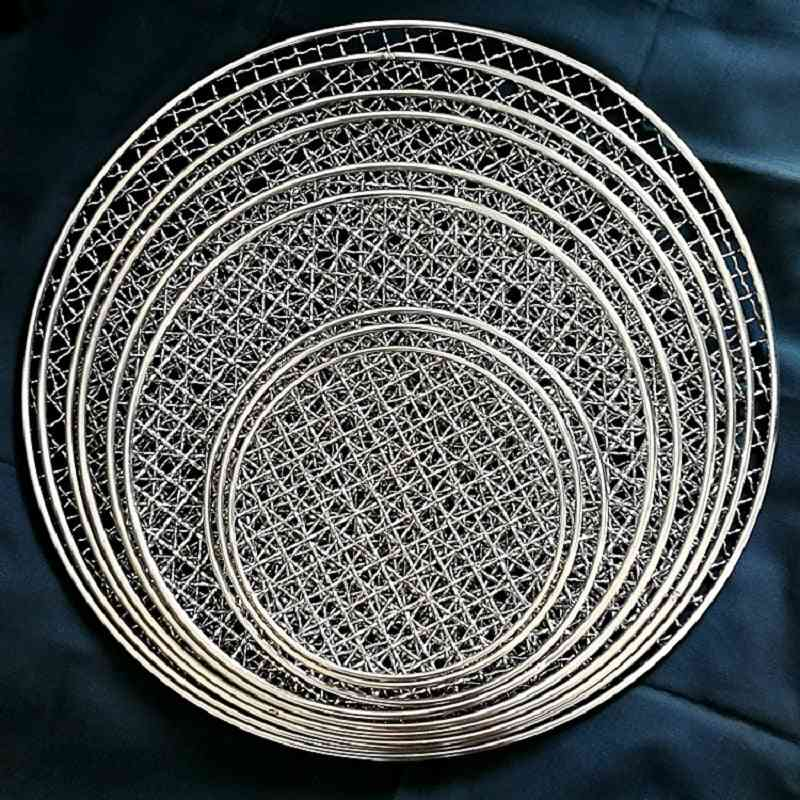 Round Stainless Steel Barbecue Non-stick Wire Net
