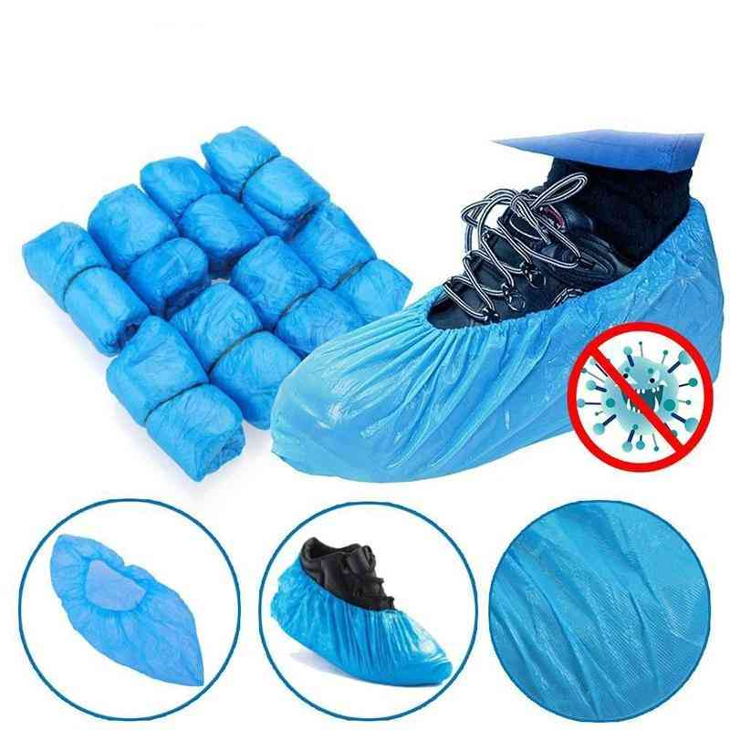 Plastic Disposable Shoe Covers For Outdoor Cleaning, Shoe Cover (100pcs)