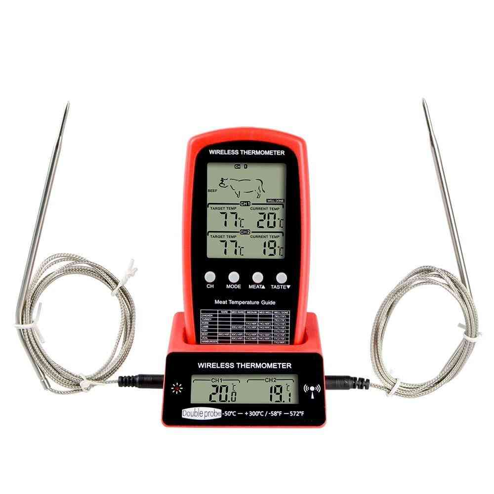 Wireless Remote, Meat Thermometer, Dual-probe Digital, Cooking Oven, Bbq Kitchen