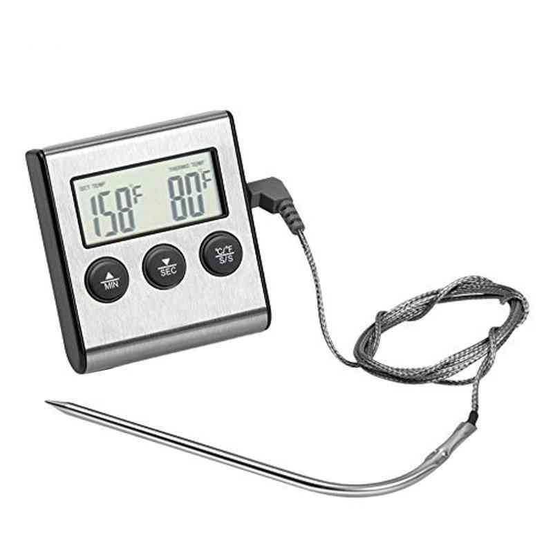 Digital Oven, Kitchen Food, Meat Thermometer With Timer Water Milk, Temperature Cooking Tools