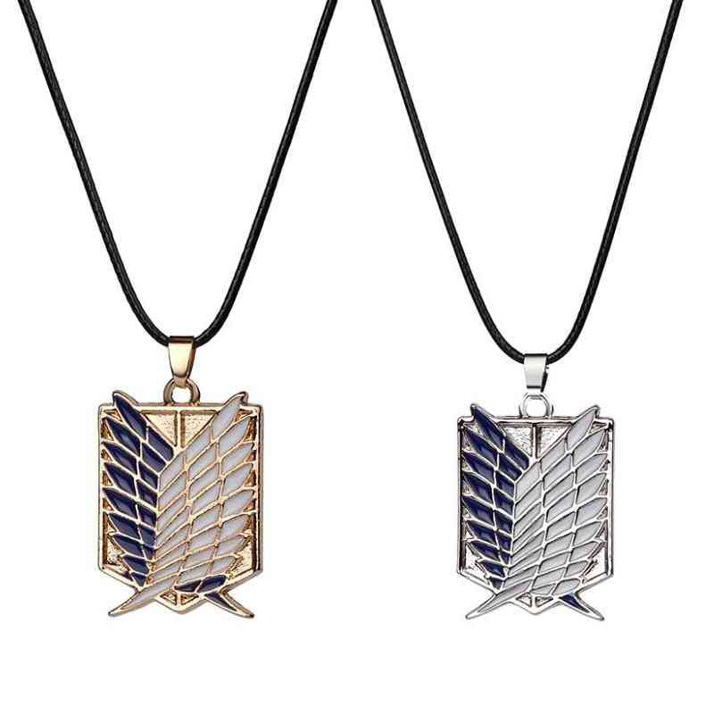 Anime Attack On Titan Alloy Necklace Figure