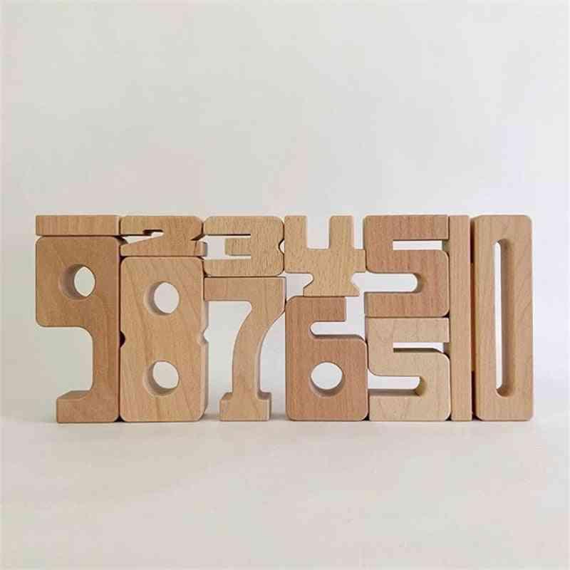 1-10 Wooden Math Digital Building Block