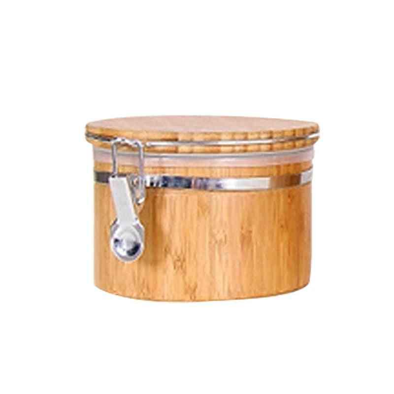Home Improvement Kitchen Fixture  Cabinet Storage Bamboo Household Food Coffee Bean Jar