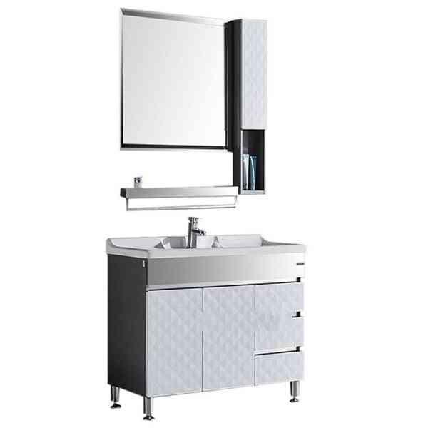 Stainless Steel Bathroom Marble Countertop Basin Cabinet
