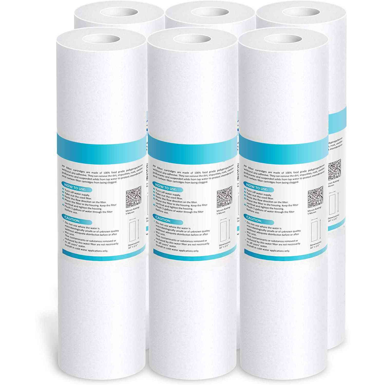 Replacement Polypropylene Sediment Filter Cartridge For Whole House, Compatible