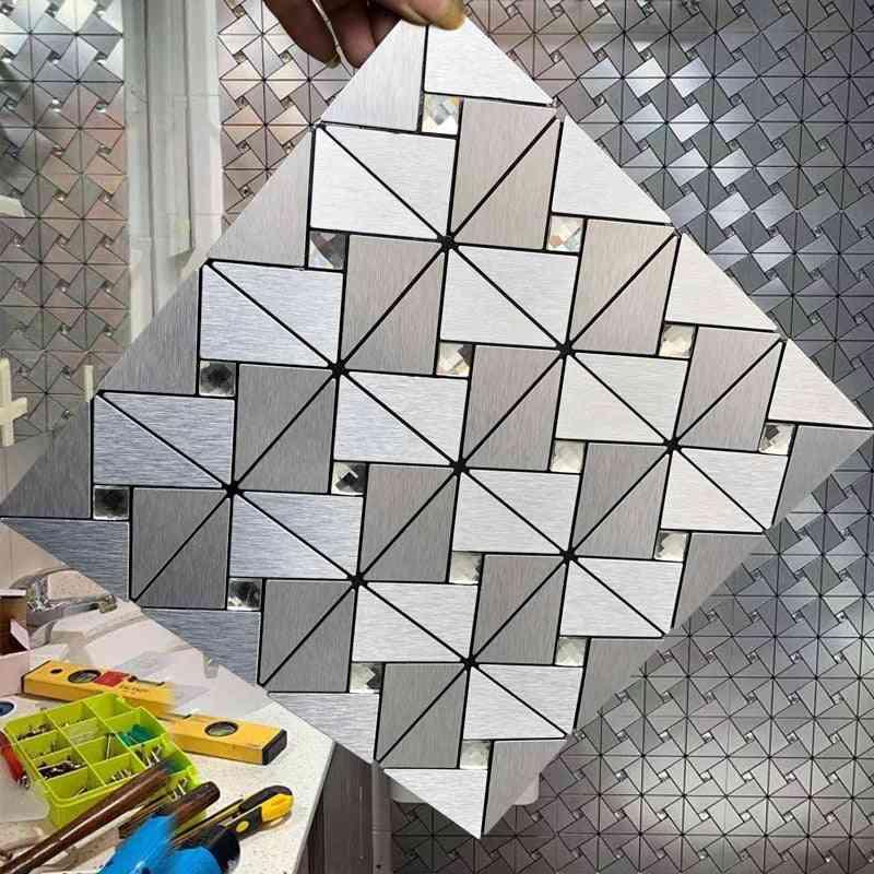 3d Wall Panel Metal Geometric Pattern Mural 3d Wallpaper