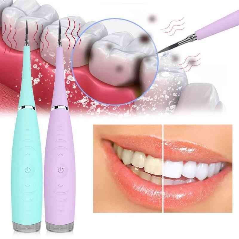 Usb Ultrasonic Teeth Whitening Cleaning Device, Rechargeable, Dental Flosser, Waterproof, Electric Tooth Cleaner, Calculus Remover