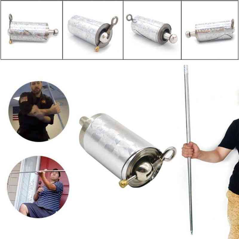 Stainless Steel Pocket Self-defense Telescopic Stick Portable Performance Metal Extension