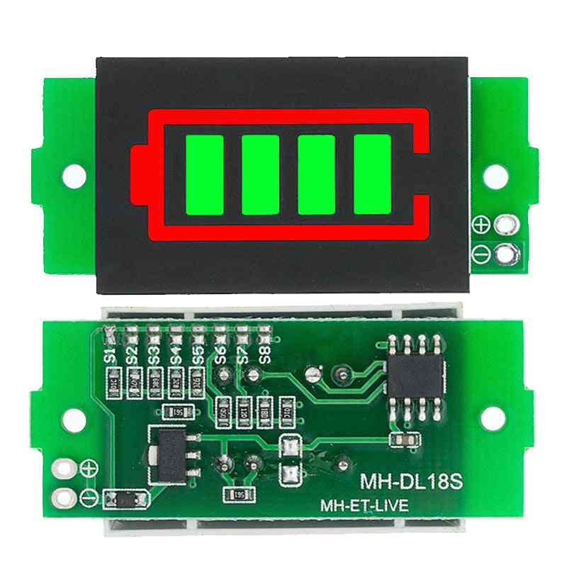 Lithium Battery Capacity Indicator Module Electric Vehicle Battery Power Tester Li-ion
