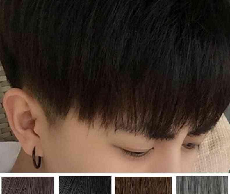 Men's Short Hair Straight Fluffy Realistic Wig