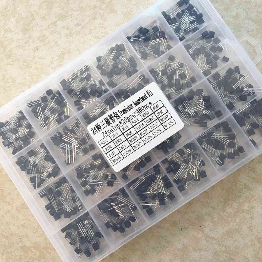 24values  To-92 Transistor Assortment Assorted Kit