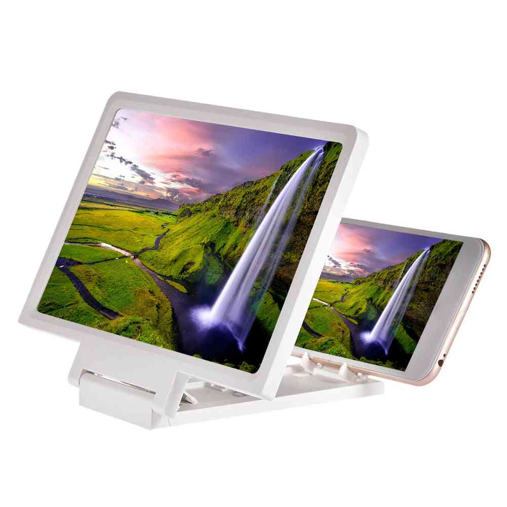 Mini Mobile Phone Magnifying Glass, Video Screen Amplifier Stand For Folding Screen, Phone Accessories