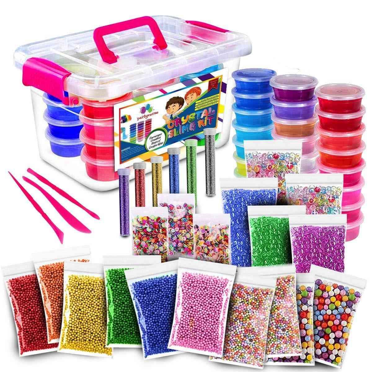 52pack Fluffy 24 Color Slime Kit