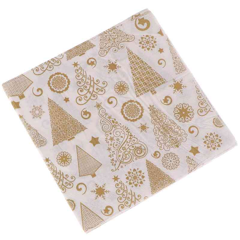 Square Christmas Paper Napkin For Home Table Decoration