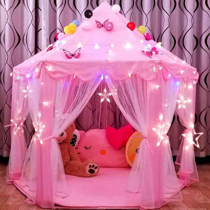 Portable Kids Toy Tipi Tent Ball Pool Princess Girl Castle Play House Small House Folding