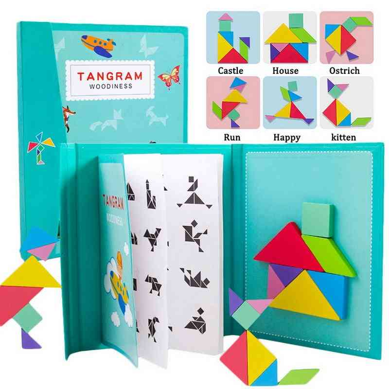 Magnetic 3d-puzzle, Tangram Thinking Training Game, Learning Wooden (g295695)