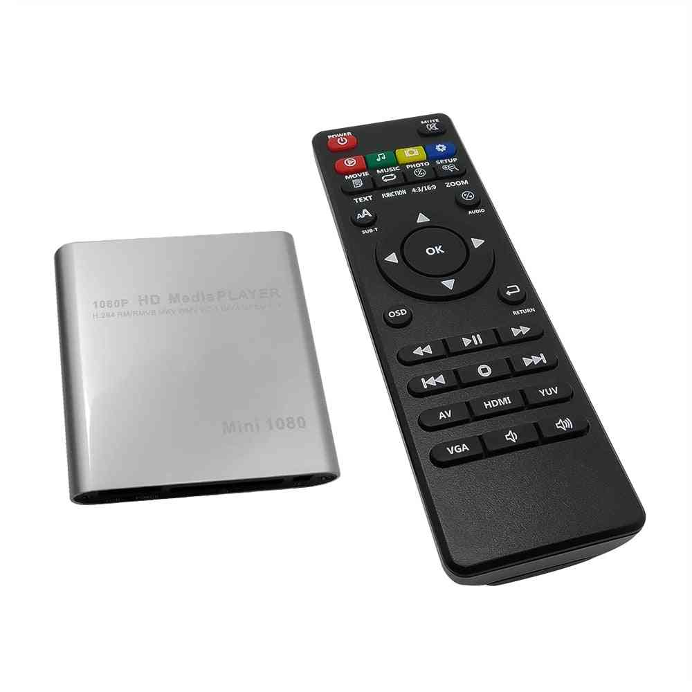 Hd Usb External Media Player With Hdmi-compatible Sd Tv Box