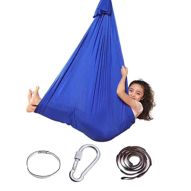 Kids Adult Cotton Outdoor, Indoor Swing Hammock For Cuddle Up, Sensory Child Therapy, Soft Elastic Parcel, Steady Seat Swings