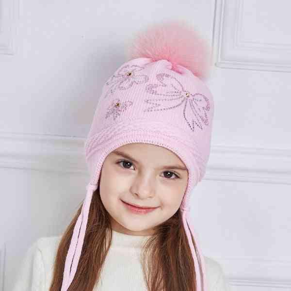 Rhinestones Bow-knot Winter Hats