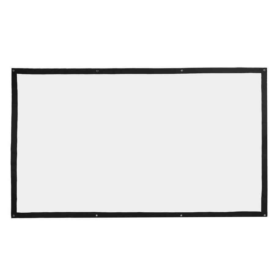 Projection Screen 100 Inches Portable Foldable Soft Projection Curtain