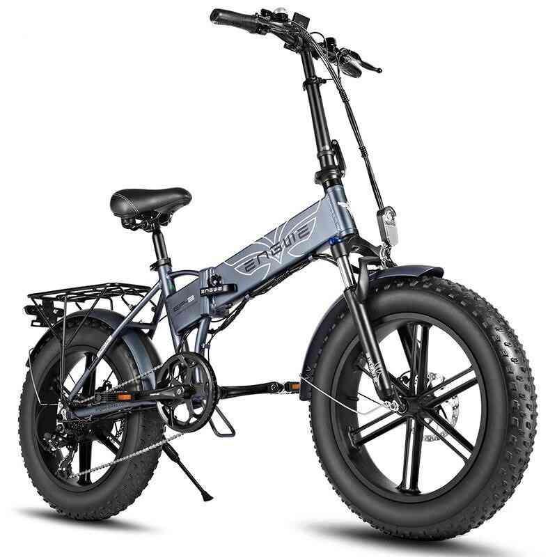 Eu Stock Electric Bike 20*4.0inch 48v12.5a Electric Bicycle 500w 38km/h 7speed Powerful Motor Fat Tire Bike Mountain Snow Ebike