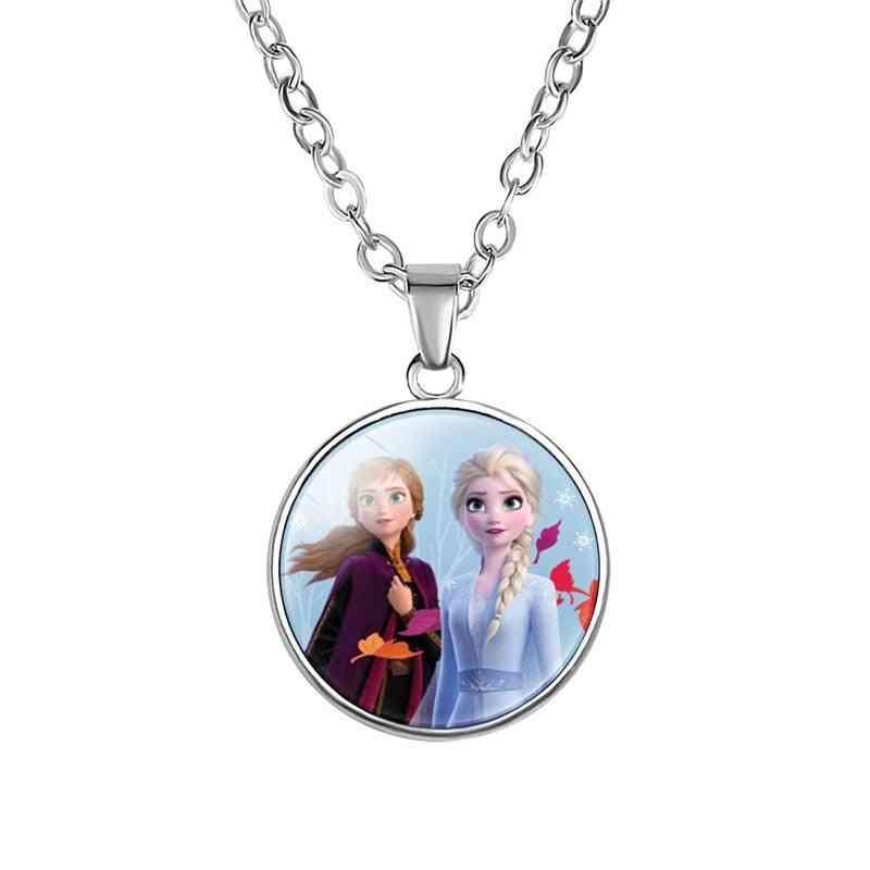 Cartoon Princess Time Gem Pendant, Girl Necklace,  Jewelry Make Up
