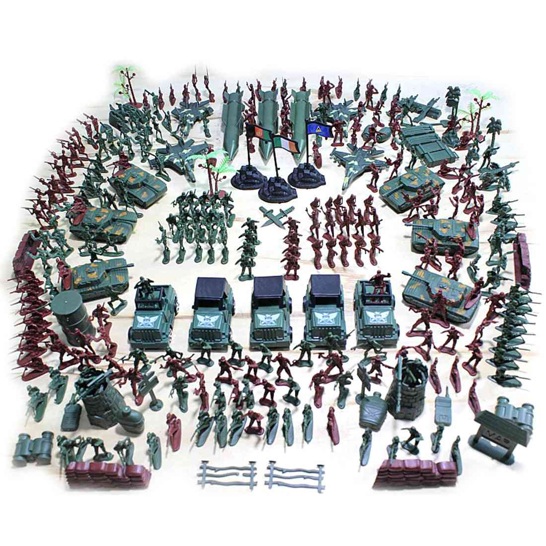 301pcs 5cm Plastic Soldier Model World War Ii Soldier Military Toy Set