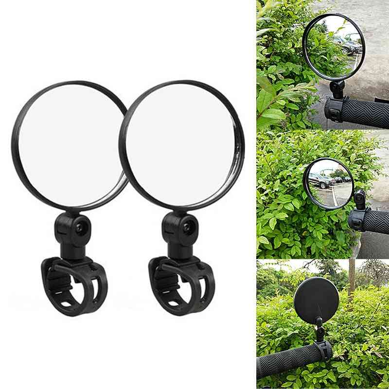 2/1 Pcs 360° Rotation Bicycle Rear View Mirror For Bike/cycling