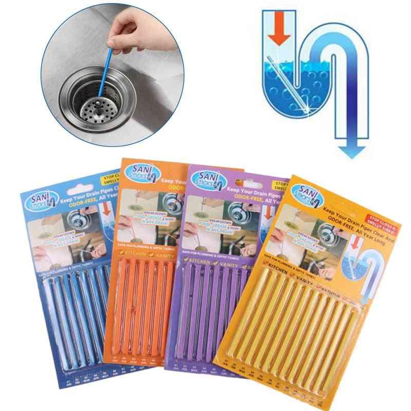 12pcs/set Sani Sticks Sewage Decontamination Drain Cleaner