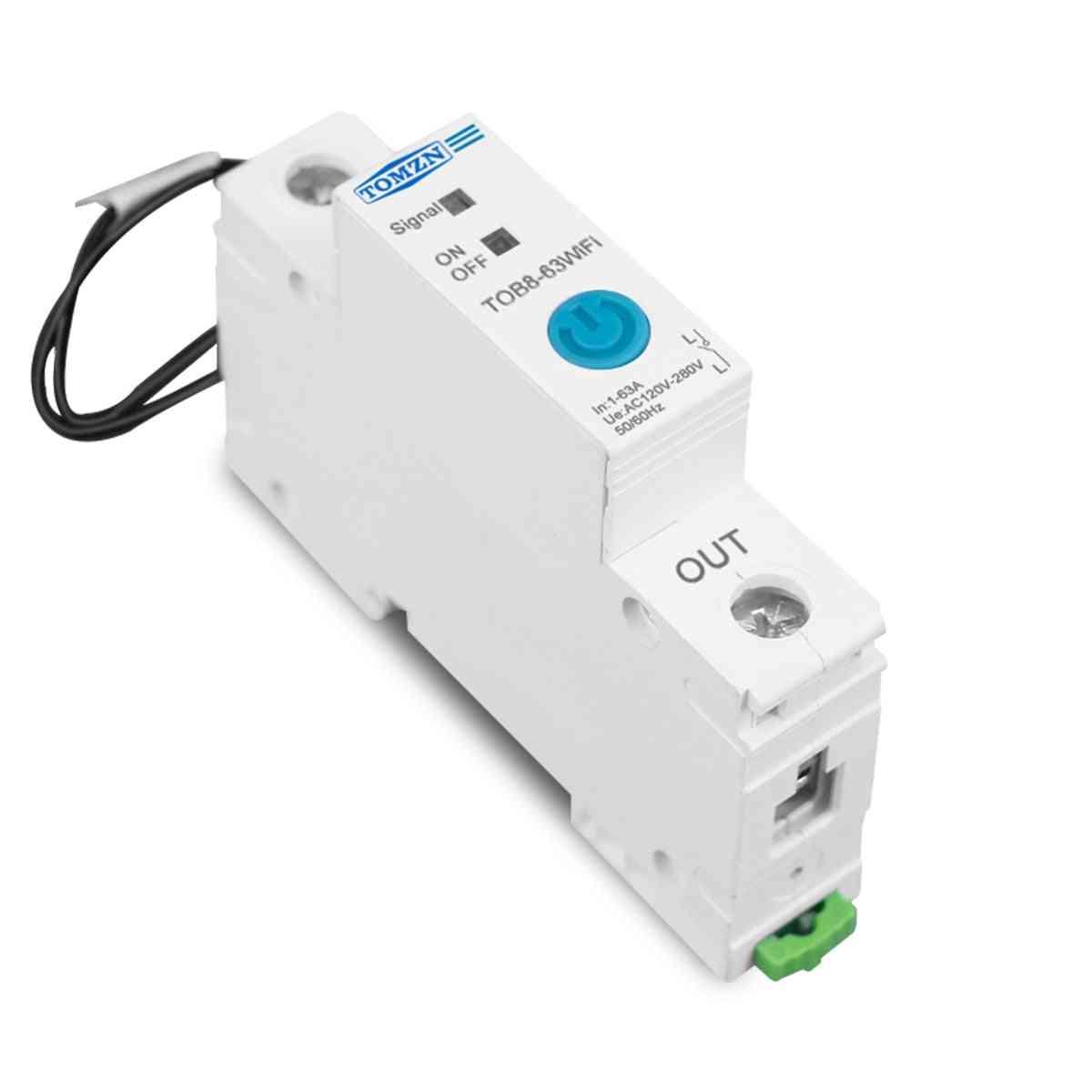 63a Ewelink Single Phase Wifi Smart Energy Metering Monitoring Circuit Breaker Timer Relay