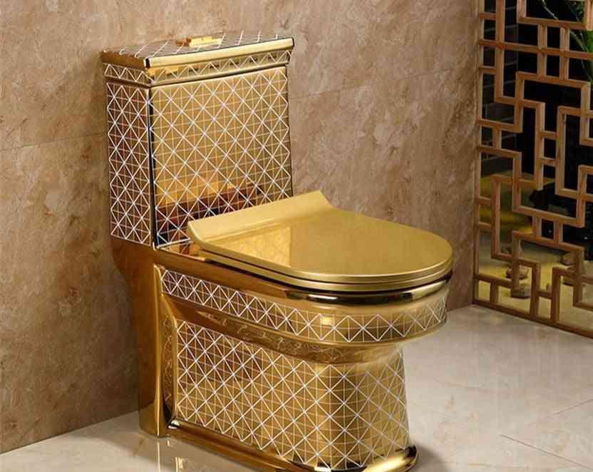 Ceramic One Piece Toilet Creative Bathroom Seat Super Cyclone Type Luxury Flush Water Closet