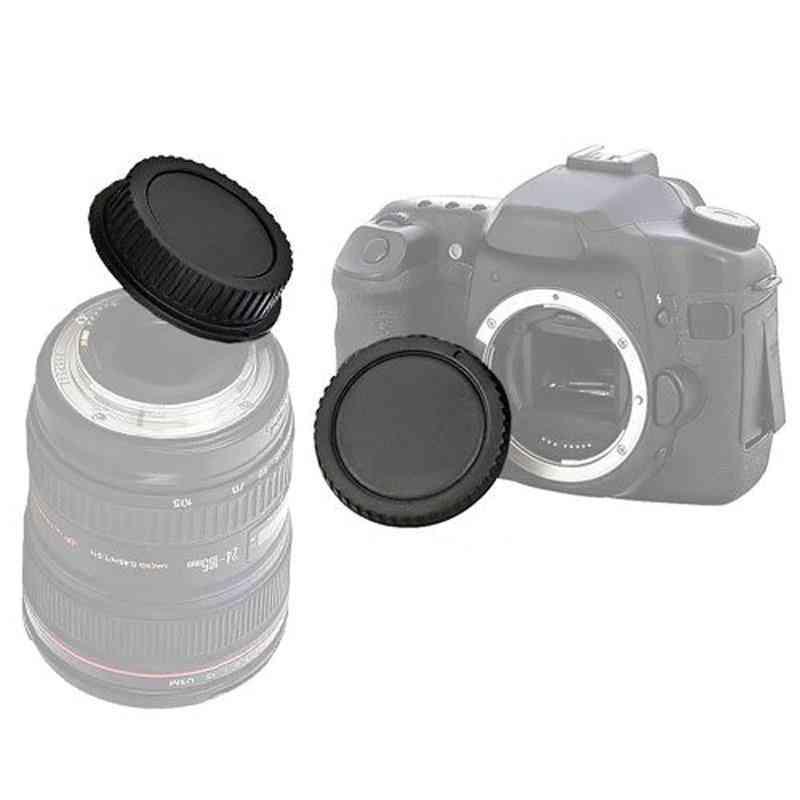 For Canon Eos Camera Body Cover + Lens Rear Cover Cap