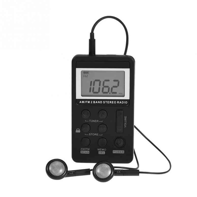 Dual Band Stereo Pocket Radio Receiver