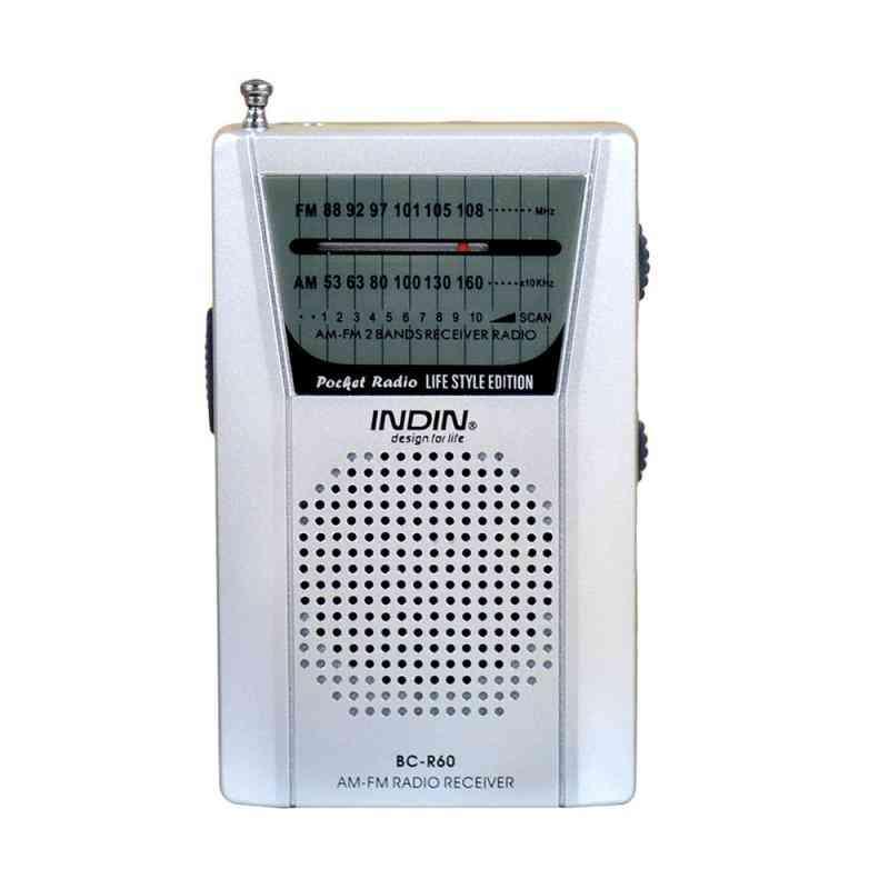 Radio World Receiver With Speaker  (white)