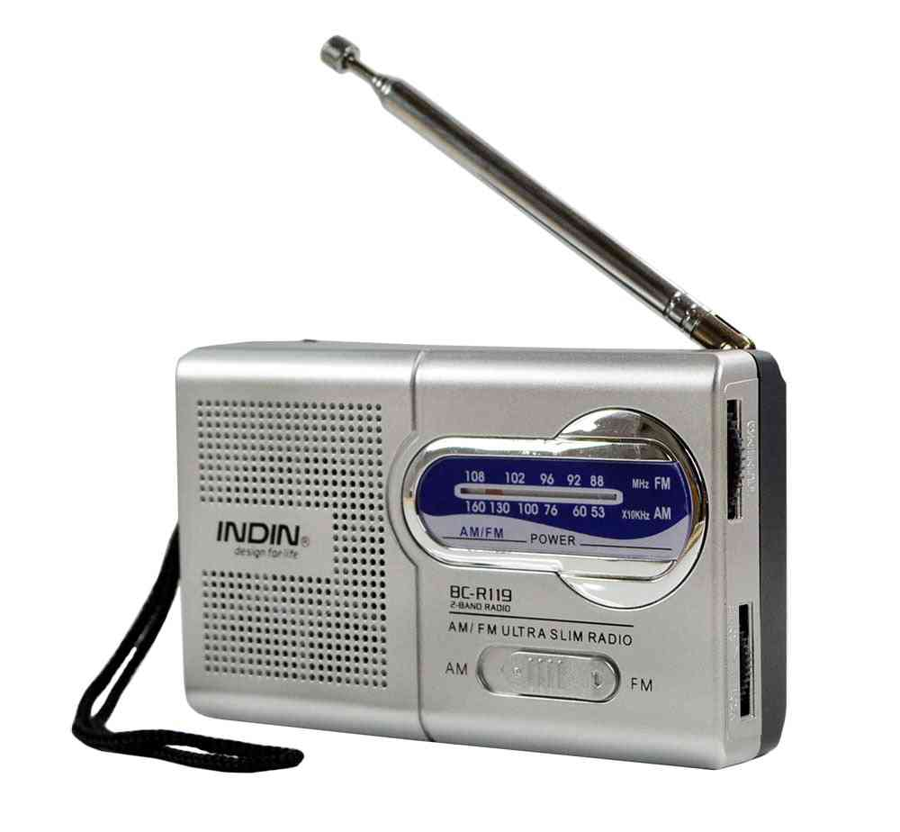 Mini Portable Radio Telescopic Antenna Speaker