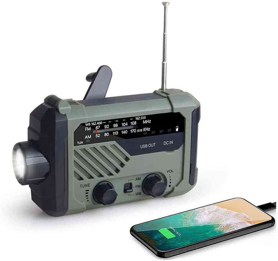 Portable Am/fm/noaa Weather Radio With Flashlight (green)